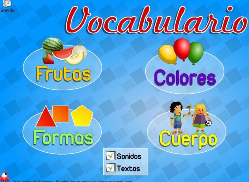 vocabulario - juegos para aprender a leer