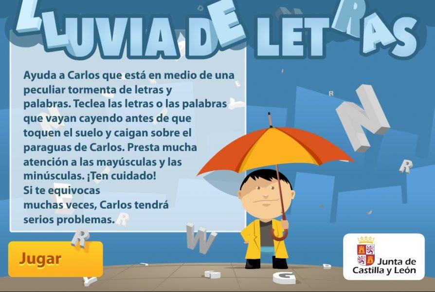 lluvia de letras - juegos para aprender a leer